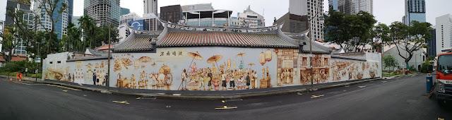 Street mural at Thian Hock Keng