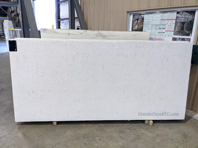Carrara White Quartz Countertop Kitchen NYC