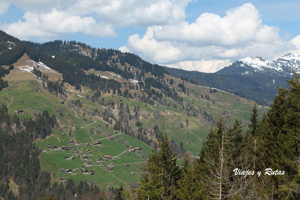 Vistas desde el Harder Kulm, Suiza