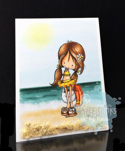 Tiddly Inks, Kecia Waters, Copic markers, beach, Wryn, ocean