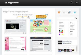 seperti judulnya situs ini menyediakan berbagai template/theme untuk blog.