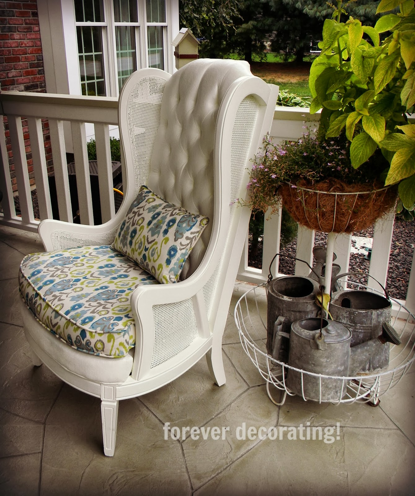 Chair: Forever Decorating!: Charming Painted Upholstered Chair
