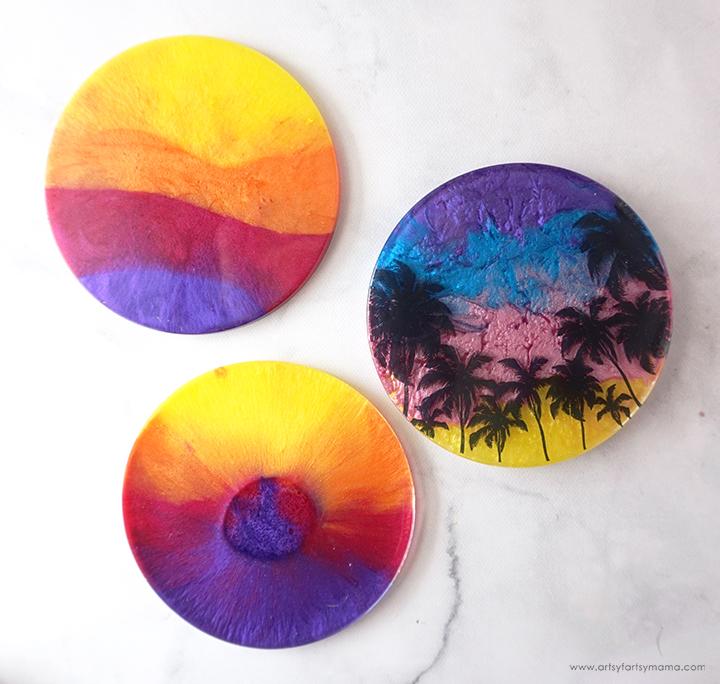 Resin Sunset Coasters Fail