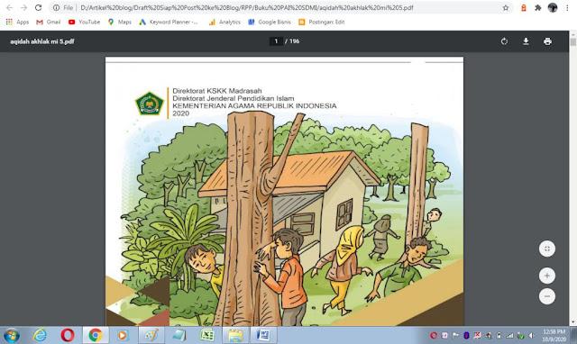 Buku akidah akhlak kelas 5 mi sesuai kma 183 tahun 2019 kurikulum PAI