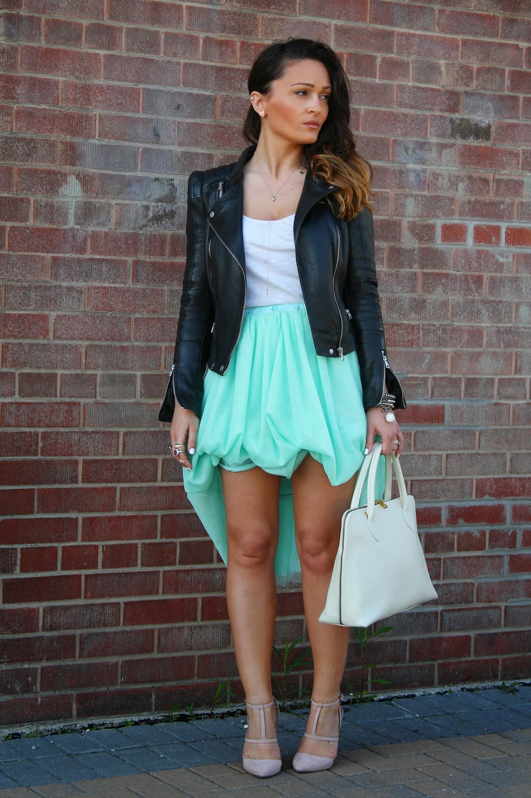 prom dressing idea mint green tulle skirt