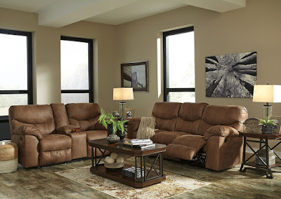 Ashley reclining sofa set