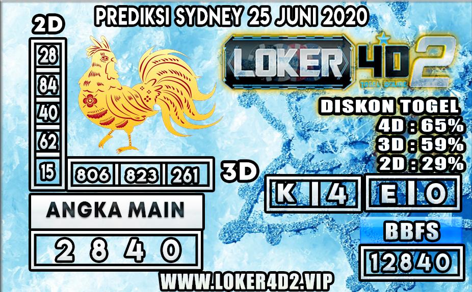 PREDIKSI TOGEL SYDNEY LOKER4D2 25 JUNI 2020