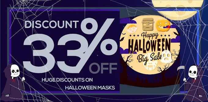 Save Up 33% on Halloween Masks