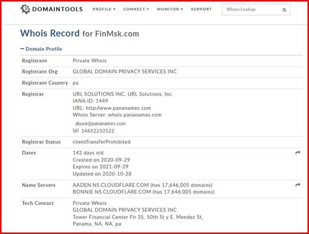 Сайт брокера FINMSK
