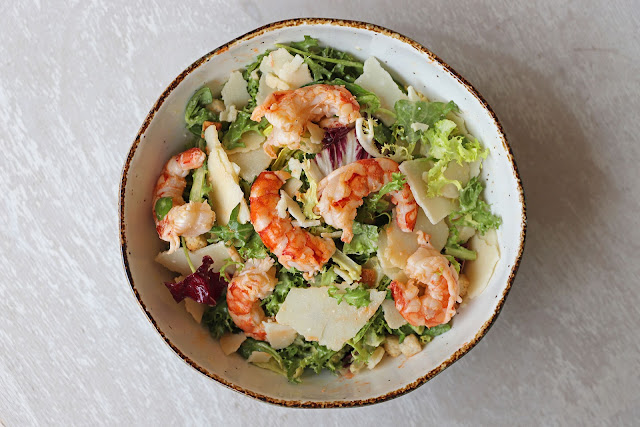 Συνταγή για Σαλάτα Caesar με Γαρίδες