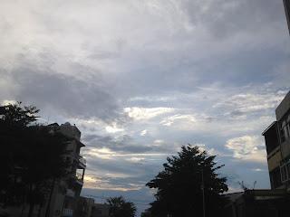 蘭潭水庫回程天空