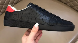 GUCCI ACE LEATHER GG EMBOSSED WOMEN'S/MEN'S SNEAKERS TOP QUALITY
