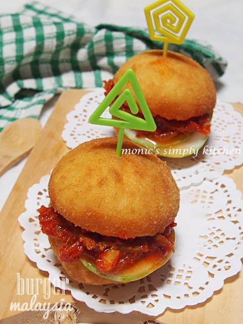 resep pau sambal burger malaysia