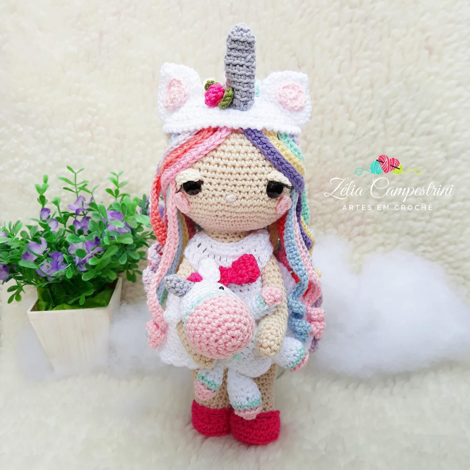unicórnio | Unicórnio de crochê, Bichinhos de croche, Amigurumi de ... | 1600x1600