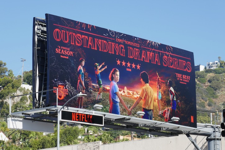 Stranger Things 3 Emmy nominated billboard