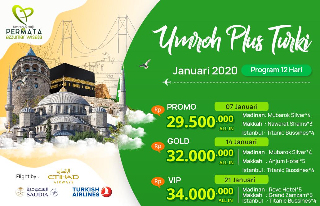 Biaya Paket Umroh Januari 2020 Plus Turki Murah