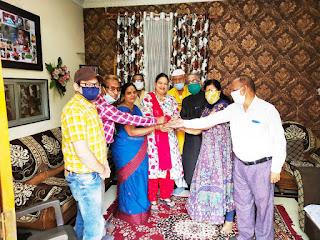 जायंट्स ग्रुप ऑफ बुरहानपुर की अध्यक्ष सरोज ठाकुर को मनोनीत किया