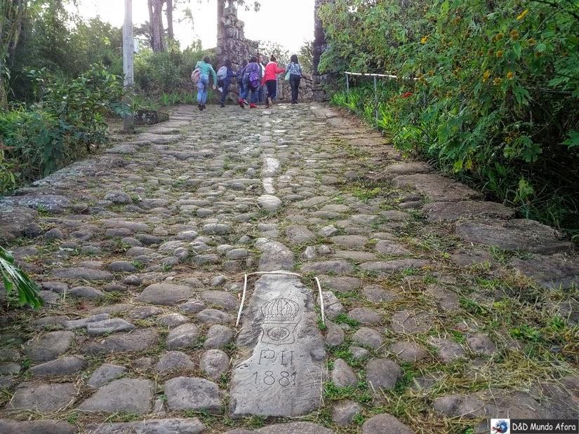 Santuário do Caraça - Pedra que Dom Pedro escorregou