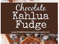 Chocolate Kahlua Fudge