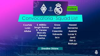 Convocatoria B. Monchengladbach-Real Madrid