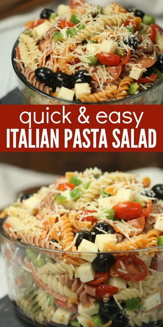 CLASSIC ITALIAN PASTA SALAD RECIPE #recipes #pastarecipes #easypastarecipes #food #foodporn #healthy #yummy #instafood #foodie #delicious #dinner #breakfast #dessert #lunch #vegan #cake #eatclean #homemade #diet #healthyfood #cleaneating #foodstagram
