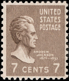 1938 7c Andrew Jackson 7th President of the United States