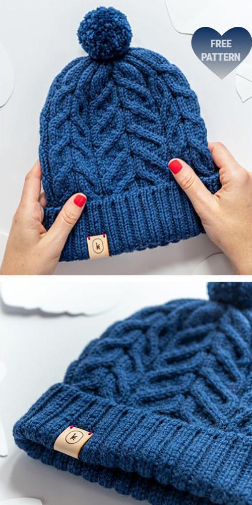 Knit Unisex October Hat - Free Knitting Pattern