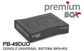 DONGLE PREMIUMBOX PB 49 DUO - SKS 58W MODIFICADA - 17/07/2016