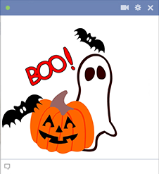Ghost and pumpkin icons for Facebook