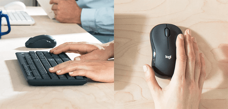Silent keyboard and mouse
