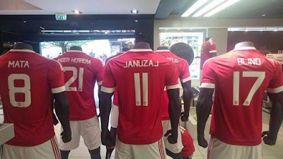 5d998fb985a JUAL+ONLINE+NEW+JERSEY+KAOS+MANCHESTER+UNITED+MU+ · Costum Name Manchester  United 2015 2016 - Home ...