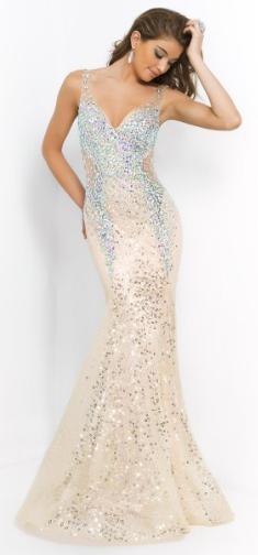 Glitter Strap Dress with v-shape Straps