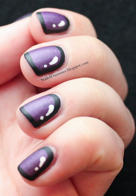 Nails4Dummies - Purple Cartoon Nails
