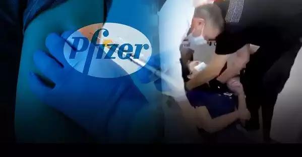 Νοσοκόμα λιποθυμά μόλις κάνει το εμβόλιο της Pfizer  Βίντεο