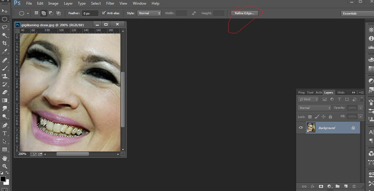 Edit Photo Photoshop Memutihkan Gigi