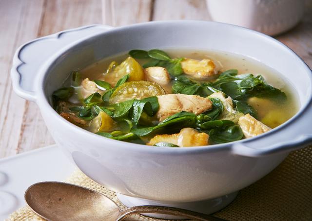 рисовый суп с курицей и шпинатом рецепт-картинка
