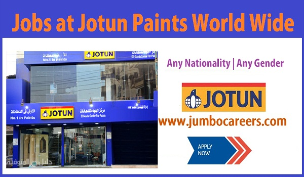 Jotus Paints job openings at world wide, Show all available vacancies,