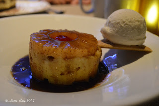 Saybrook Point Pineapple Upside Down Bread Pudding Spring Menu