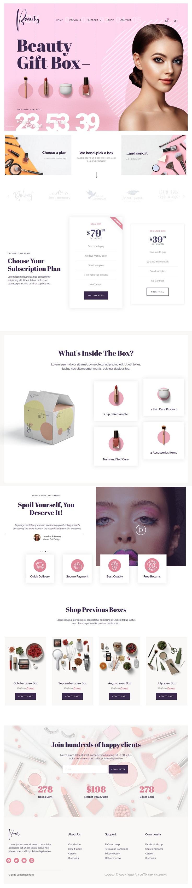 Subscription Box Elementor Template Kit