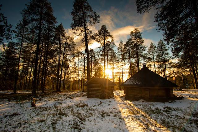 Tramonto al parco nazionale Pyhä-Luosto, Finlandia