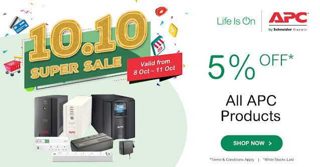 Schneider Electric participated in 10.10 Super Sale