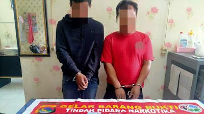 Dua Orang Terduga Penyalahguna Sabu Diamankan Satresnarkoba Polres Lotim