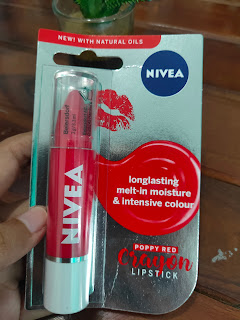 Nivea Lip Crayon Review Poppy Red
