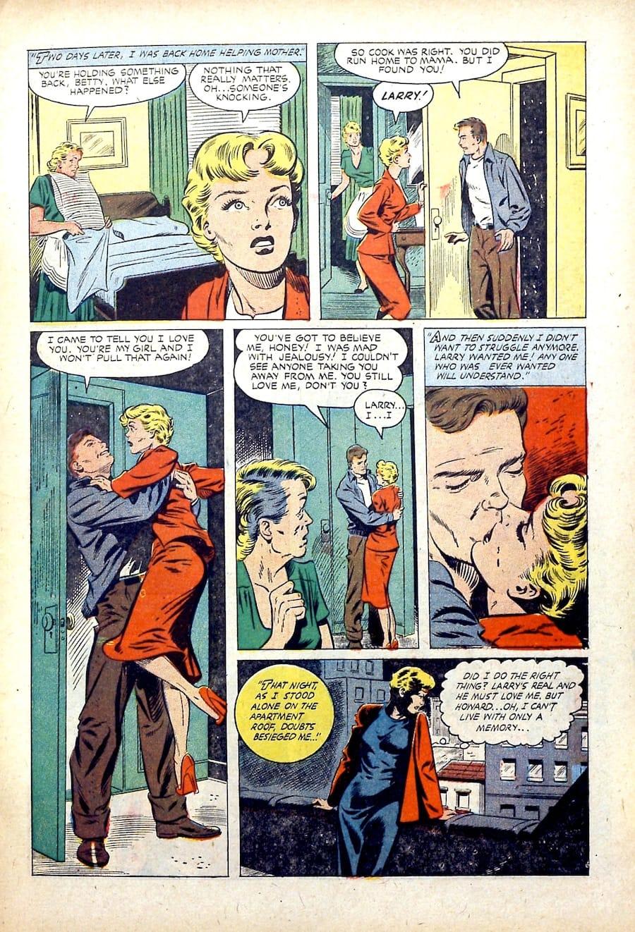 Matt Baker st.john golden age 1950s romance comic book page art  - Cinderella Love v2 #14