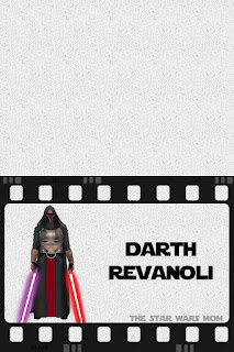 Darth Revanoli Star Wars Party Food Label - Free Printable