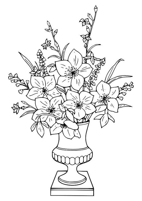 Tranhh tô màu bình hoa đẹp nhất