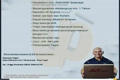 Info Lowongan Kerja Staff Gudang J&T Express Tegal