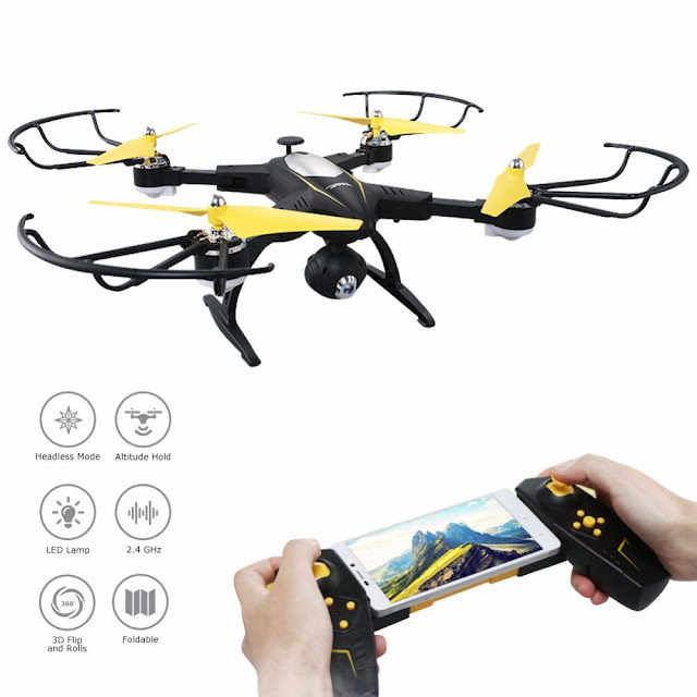 Foldable App Controlled RC Quadcopter with 720P WIFI HD Camera
