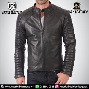 Jual Jaket Kulit Asli Garut Pria Domba Original Brida Leather B67 | WA 08813430588