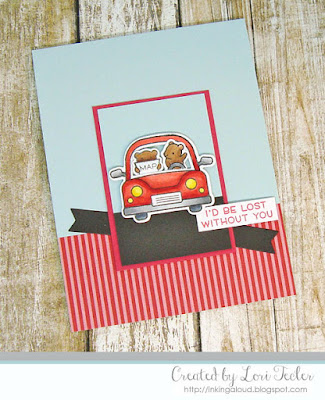 I'd Be Lost Without You card-designed by Lori Tecler/Inking Aloud-stamps and dies from Lawn Fawn